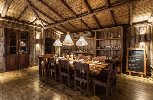 La sala da pranzo del Lodge Suindà