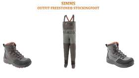 SIMMS FREESTONE® WADER STOCKINGFOOT COMBO OUTFIT - 1